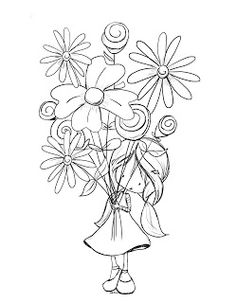 Mother's day flowers coloring pages for kids, printable
