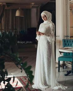 Likes, 115 Comments - Салихат Касумова ( . Hijabi Wedding, Wedding Hijab Styles, Kebaya Wedding, Muslimah Wedding Dress, Hijab Style Dress, Muslim Wedding Dresses, Muslim Brides, Muslim Dress, Wedding Abaya
