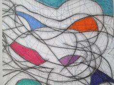"Saatchi+Art+Artist+Kevin+Jones;+Drawing,+""Seven+Colour+Abstract+No.7""+#art"