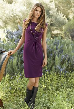 Fall dress with boots
