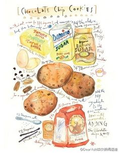 Food notes.  Author: French illustrator Lucile Prache
