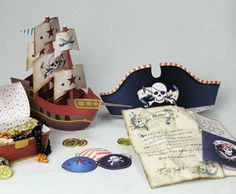 Pirate Printables  http://www.hp.com/hho/hp_create/party_kits_decorations-party_kits-pirate_kit.html