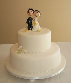 Simple Wedding Cake by cakespace - Beth (Chantilly Cake Designs), via Flickr