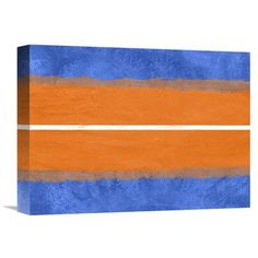 Naxart 'Blue and Orange Theme 4' Painting Print on Wrapped Canvas Size: