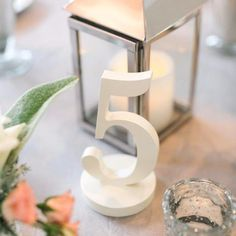 Painted Wedding Table Numbers