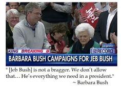 The District of Calamity: Barbara Bush on Jeb!