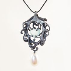 Heart of the Mermaid sea weed  necklace