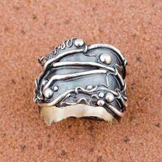 Hattie Sanderson's metal clay ring.