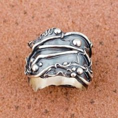 Hattie Sanderson's metal clay ring.