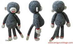 Extra Large Monkey Free Crochet Pattern by Amigurumi To Go