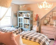 Decor for kids- girls bedroom with nesting with grace Teen Girl Bedrooms, Little Girl Rooms, Boy Rooms, Home Fashion, Pottery Barn, Bedroom Decor, Lego Bedroom, Childs Bedroom, Bedroom Ideas