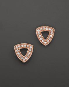 Dana Rebecca Designs 14K Rose Gold Emily Sarah Earrings with Diamonds