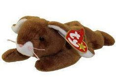 288d18989ba Ty Vintage Beanie Baby - Retired - Ears Bunny -1995 - Mint Condition by  MNValuables