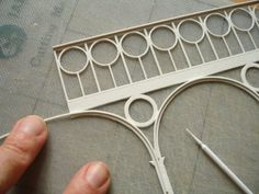"""adding curved detail using foamed PVC """"Palight"""""""