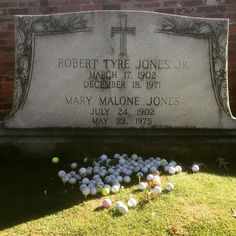 Grave of one of Golf's best players, Bobby Jones.
