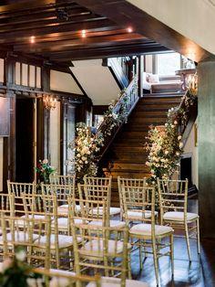 A Classic and Romantic Birmingham Wedding Wedding Ceremony Chairs, Wedding Ceremony Decorations, Table Decorations, Wedding Staircase, Aisle Style, Wedding Honeymoons, Best Day Ever, Birmingham, Romantic
