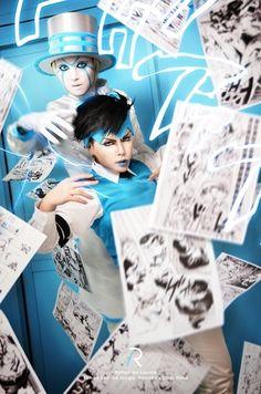 "I plan to distribute a ""JoJos Bizarre Adventure"" cosplay photo collection at Comic Market 84 this summer.Kishibe Rohan: Touga Rohan au Louvre"