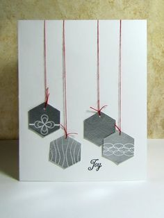 clean and simple, graphic Christmas hexagon ornaments...