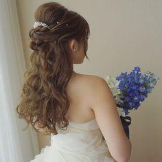 上品で可愛いハーフアップのブライダルヘアカタログ | marry[マリー]