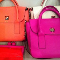 Neon Kate Spade bags