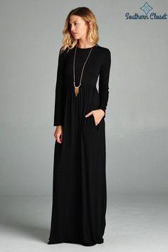 Brittany Black Maxi Dress
