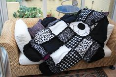 Quilting: Dog Quilt -- I'd love to do a smaller version of this, more like a toddler blanket.