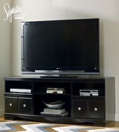 Shay Tv Stand Ashley Furniture Shelves Storage Hidden