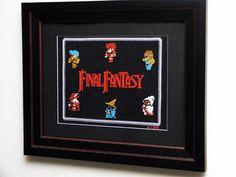 Final Fantasy Cross Stitch -- I'm a total Final Fantasy Nerd.