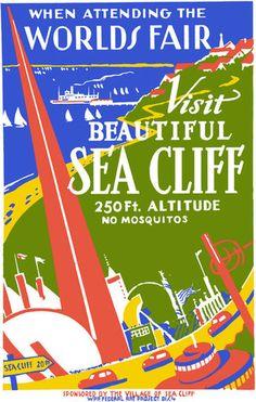 1939 Worlds Fair: Visit Beautiful Sea Cliff New York