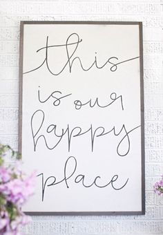 3x4 Our Happy Place by HouseofBelongingLLC on Etsy