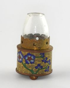Old Vintage Chinese Cloisonne Oil Opium Lamp
