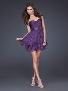 A-line Sweetheart Chiffon Short/Mini Sleeveless Beading Prom Dresses at sweetquinceaneradress.com