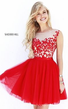 Chic A-Line Sherri Hill 11171 U-Back Cocktail Dress ShortOutlet