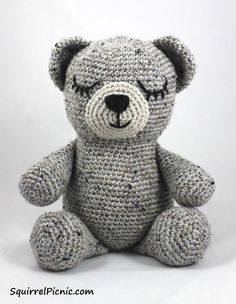 Sleepy Bear is always ready for naptime. . Free tutorial with pictures on how to make a bear plushie in 12 steps by amigurumi with worsted weight yarn, worsted weight yarn, and worsted weight yarn. How To posted by Jennifer Olivarez. in the Yarncraft s...