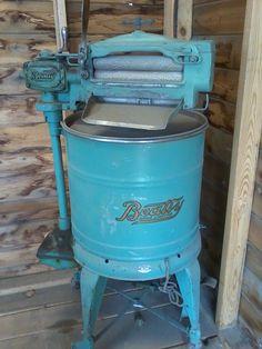 Summer 2012, antique ringer washer.