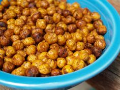 Roasted Chick Peas... low fat, high protein, high fiber, TASTY ALTERNATIVE to chips!