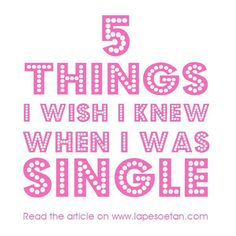 If I knew then what I know now . To find out the 5 things about love & relationships I wish I knew when I was single read the latest post on my blog http://www.lapesoetan.com Have a great weekend!