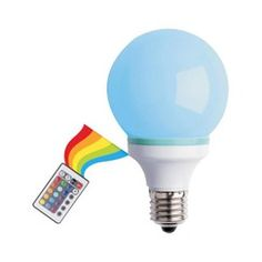 Multi-Color Changing LED Bulb with Remote controller got it for Abby's room..