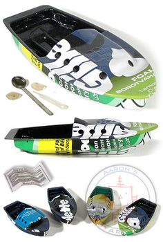 Recycled Soda Can Pop Pop Boat