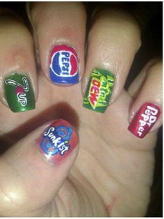 OrangeSunkist/7Up/Pepsi MtDew/DrPepper Nails