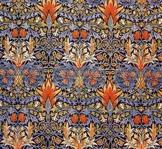 Orenco Originals Snakeshead in Earthtones by Arts and Crafts Movement Founder William Morris Counted Cross Stitch Chart : William Morris Textiles, Textile Patterns, Textile Design, Fabric Design, Floral Patterns, Paper Design, William Morris Patterns, William Morris Art, Arts And Crafts Movement