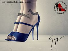 Giuseppe Zanotti 2013 Fall-Winter Sandals by MrAntonieddu - Sims 3 Downloads CC Caboodle