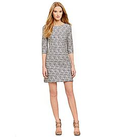Jessica Simpson LaceOverlay Striped Shift Dress #Dillards