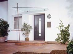 Vordächer - Glas und Spiegel Rezabek GmbH House With Porch, Porches, Canopy, Pergola, Garage Doors, Outdoors, Houses, Outdoor Decor, Home Decor