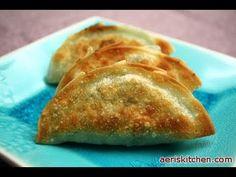 Korean Food: Garlic Chive Dumplings (부추 만두)