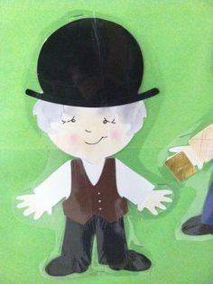 Willy Wonka Cricut Everyday Paper Dolls - Grandpa Joe