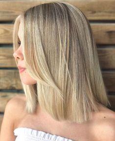 40 Newest Haircut Ideas and Haircut Trends for 2020 - Hair Adviser - Straight Medium Bob Haircut - One Length Haircuts, Thin Hair Haircuts, Round Face Haircuts, New Haircuts, Straight Hairstyles, Funky Hairstyles, Formal Hairstyles, Modern Haircuts, Medium Bob Haircuts