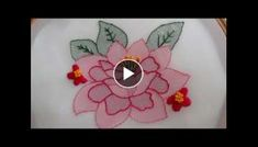 Hand Embroidery: Whipped Back Stitch/Loop Stitch Basic Embroidery Stitches, Rose Embroidery, Hand Embroidery Designs, Embroidery Patterns, Crochet Patterns, Flower Step By Step, Art Drawings Sketches Simple, Crochet Flower Tutorial, Magic Circle