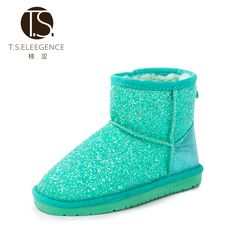 Find More Boots Information about size 28 36  Winter Children ANKLE Boots Gliter…