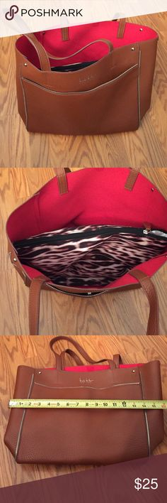 Nicole miller handbag Nicole miller handbag with removable middle pouch leopard design, used a few times in good condition Nicole Miller Bags Shoulder Bags